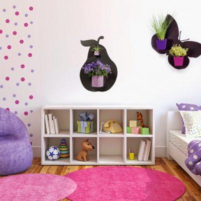 Tvarované magnetické tabule v dívčím pokoji